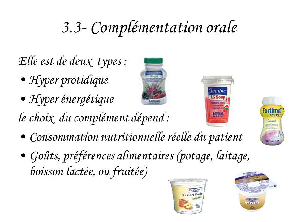 3.3- Complémentation orale