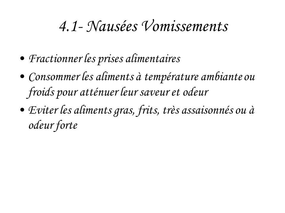 4.1- Nausées Vomissements