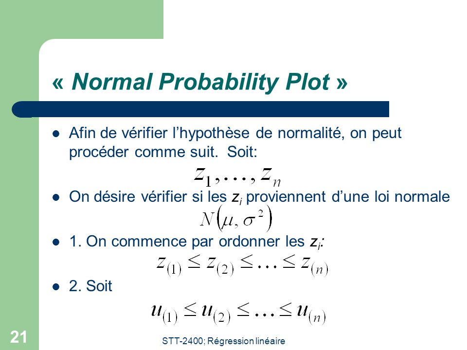 « Normal Probability Plot »