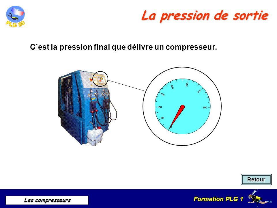 La pression de sortie C'est la pression final que délivre un compresseur. Retour