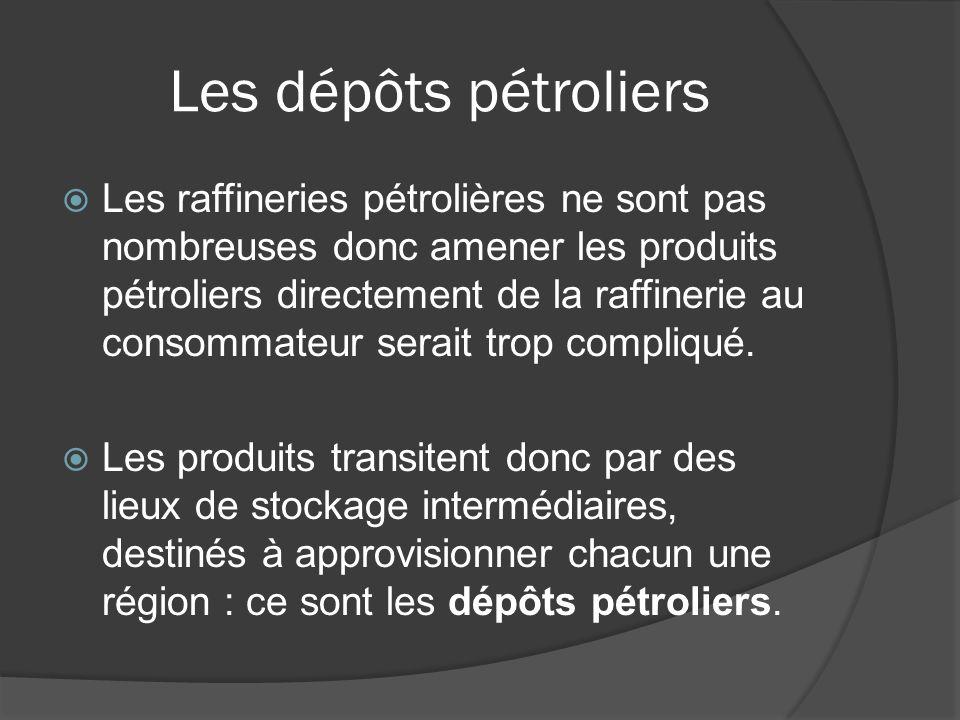 Les dépôts pétroliers
