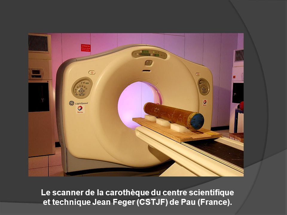 Le scanner de la carothèque du centre scientifique