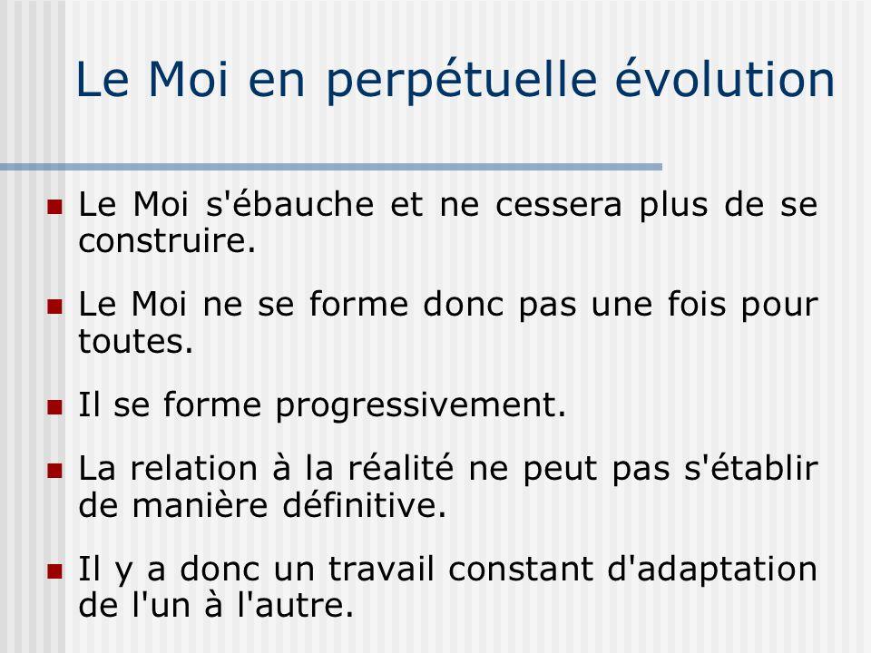 Le Moi en perpétuelle évolution
