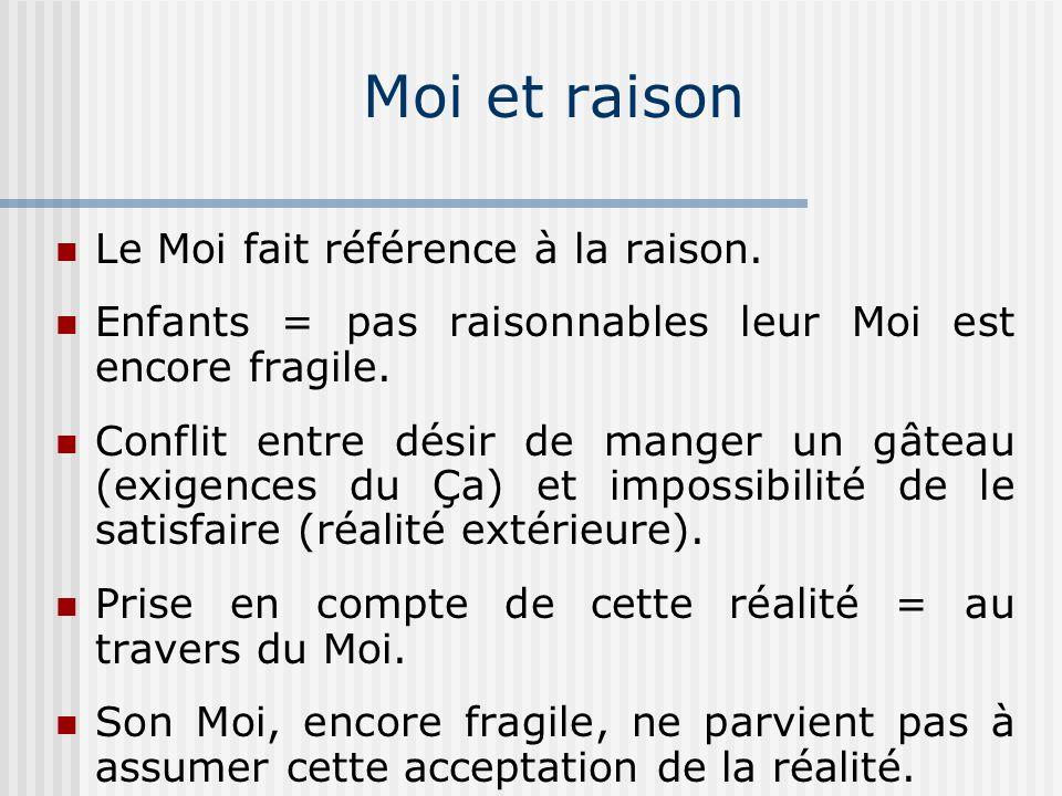 Moi et raison Le Moi fait référence à la raison.