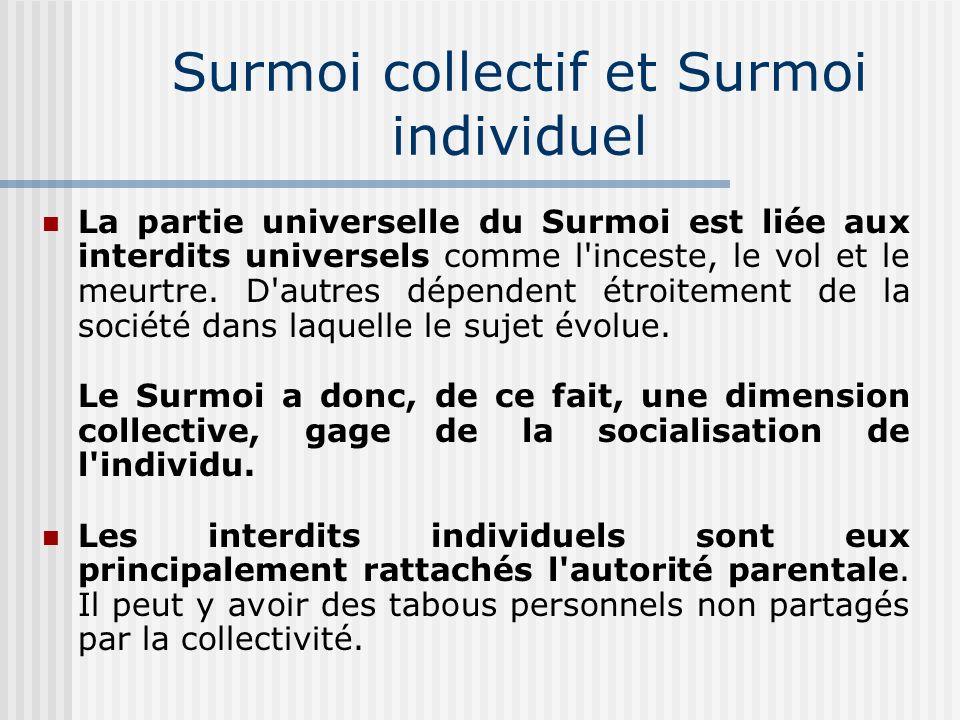 Surmoi collectif et Surmoi individuel