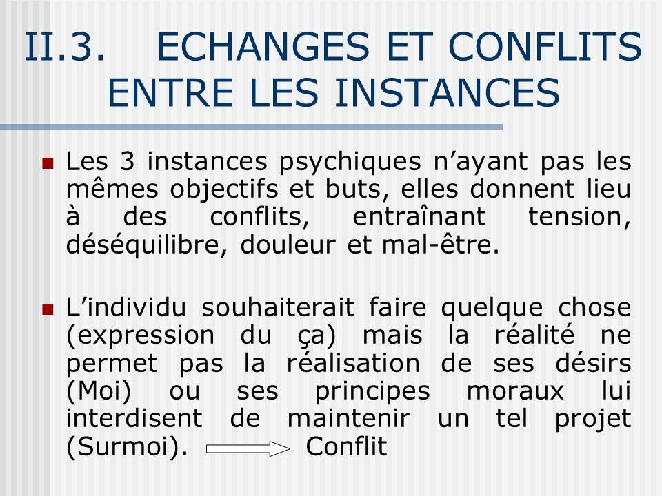 II.3. ECHANGES ET CONFLITS ENTRE LES INSTANCES
