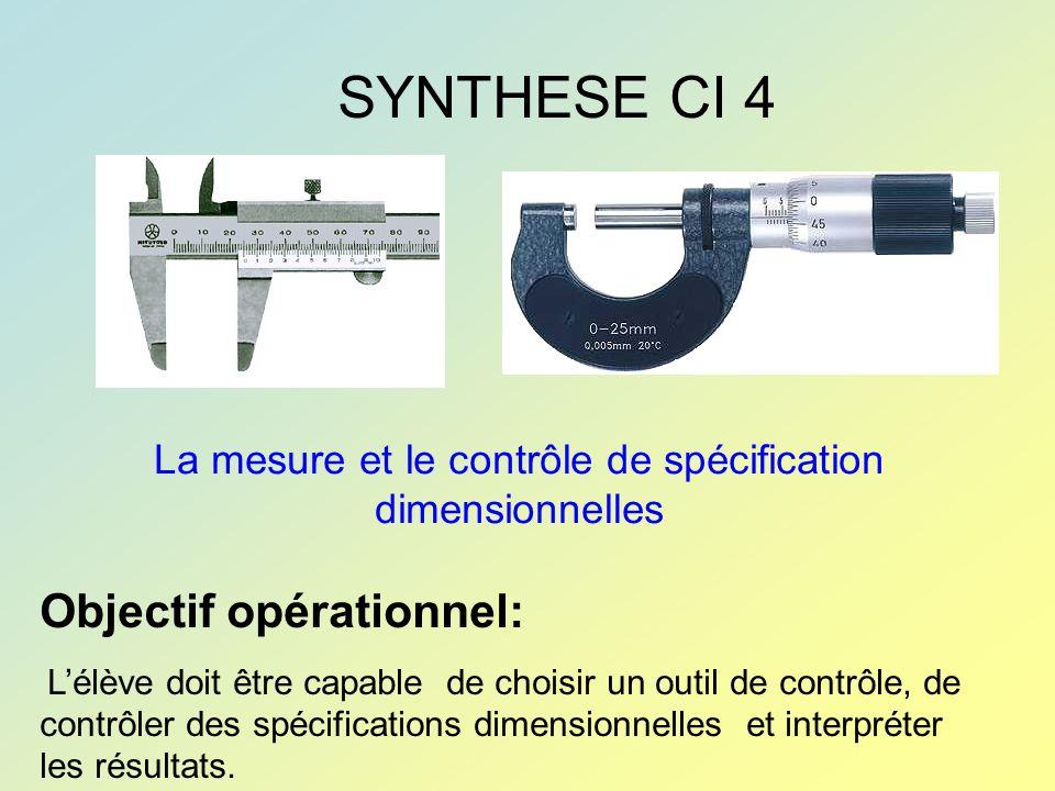 La mesure et le contrôle de spécification dimensionnelles