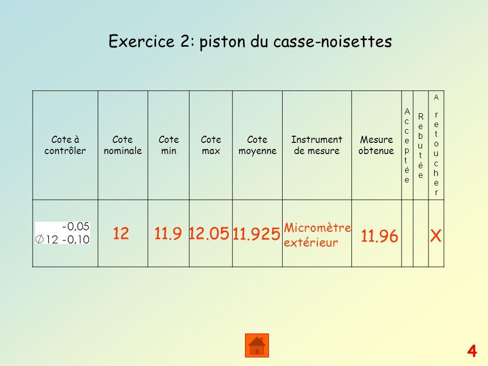 Exercice 2: piston du casse-noisettes