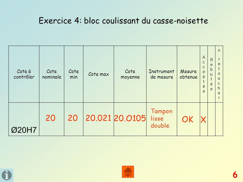Exercice 4: bloc coulissant du casse-noisette