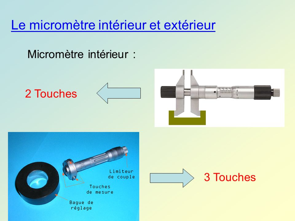 Le micromètre intérieur et extérieur