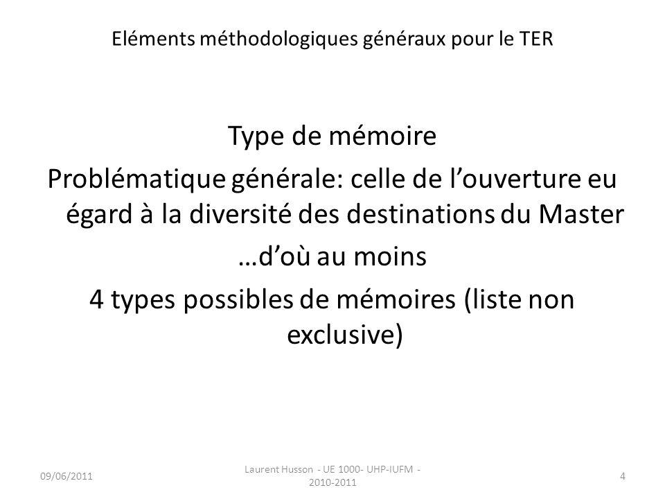 Eléments méthodologiques généraux pour le TER - ppt ...