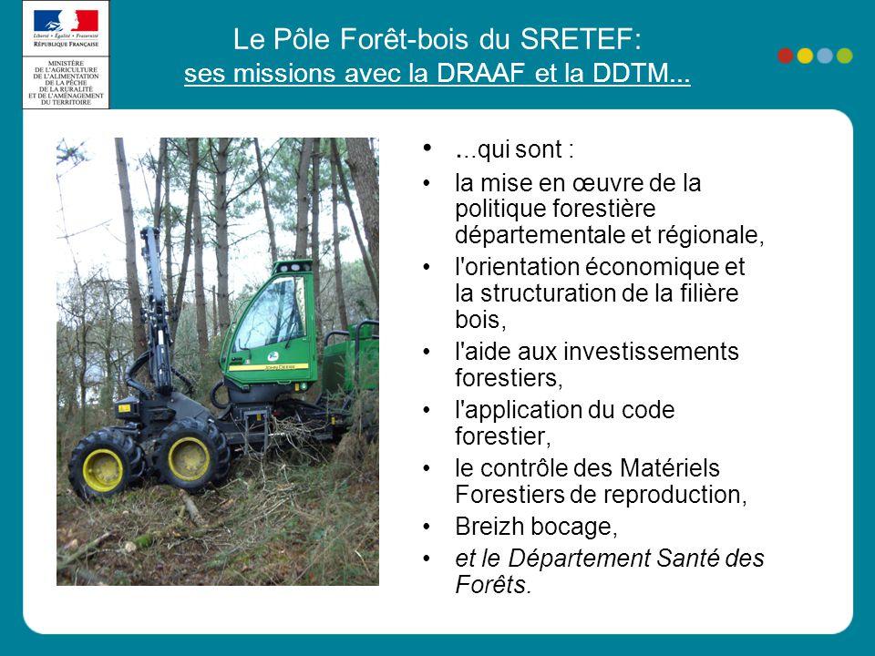 Le Pôle Forêt-bois du SRETEF: ses missions avec la DRAAF et la DDTM...