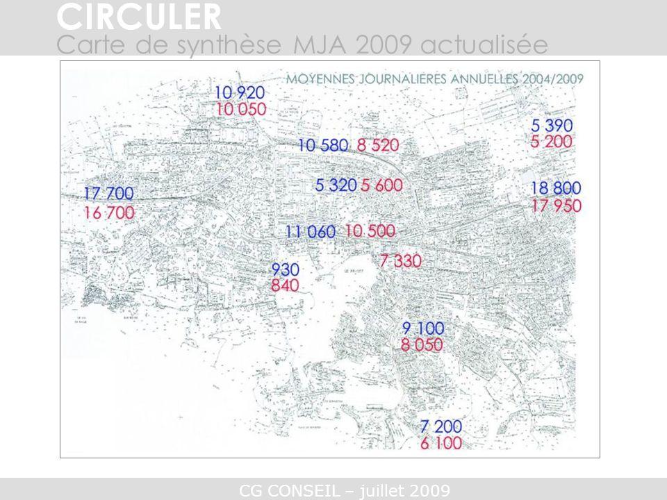 CIRCULER Carte de synthèse MJA 2009 actualisée