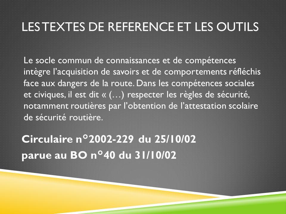 Les textes de reference et les outils