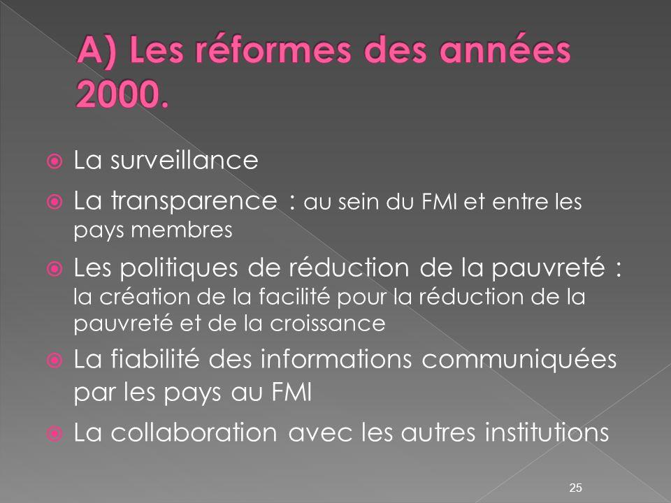 A) Les réformes des années 2000.