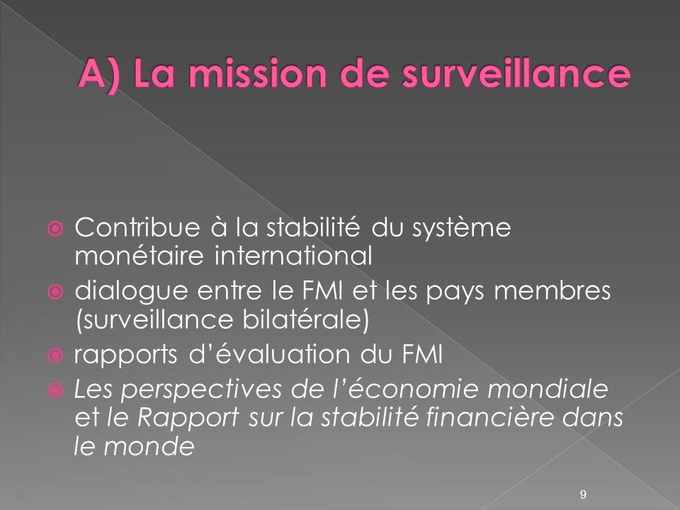 A) La mission de surveillance