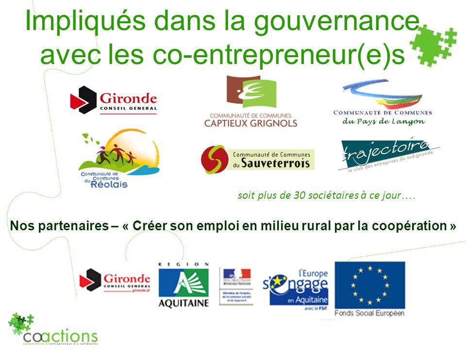 Impliqués dans la gouvernance avec les co-entrepreneur(e)s