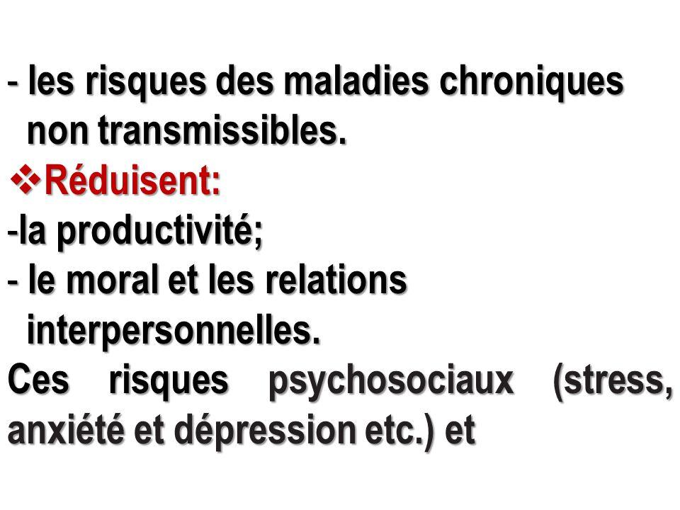 les risques des maladies chroniques