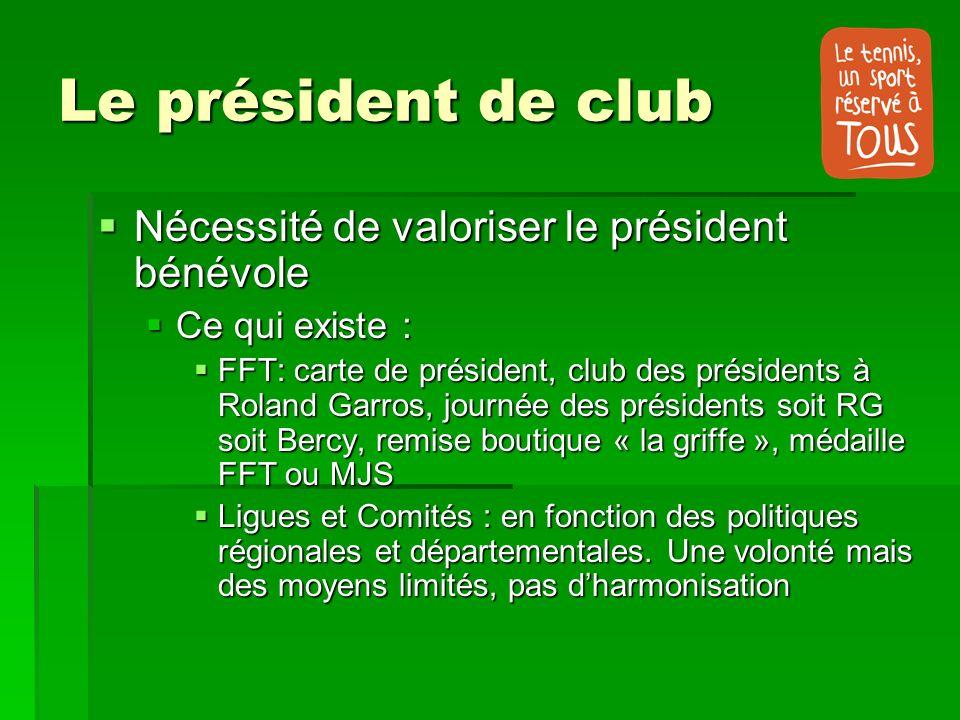 Le président de club Nécessité de valoriser le président bénévole