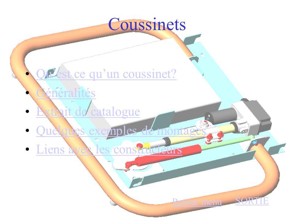 Coussinets Qu'est ce qu'un coussinet Généralités Extrait de catalogue