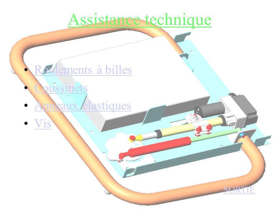Assistance technique Roulements à billes Coussinets Anneaux élastiques