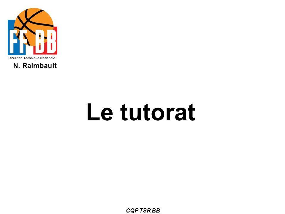 Le tutorat CQP TSR BB