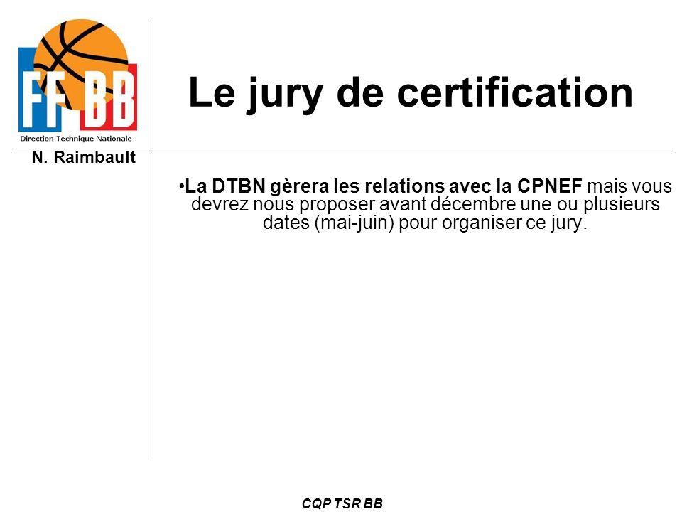 Le jury de certification