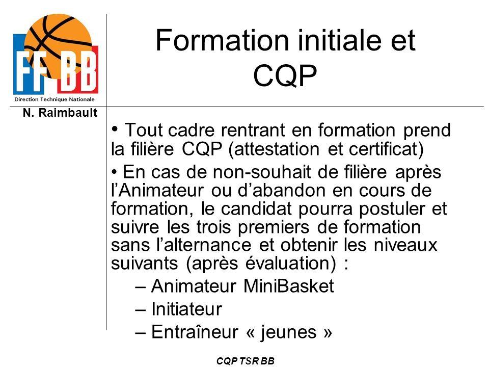 Formation initiale et CQP