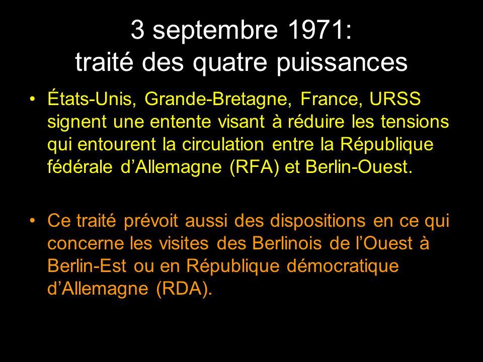 3 septembre 1971: traité des quatre puissances