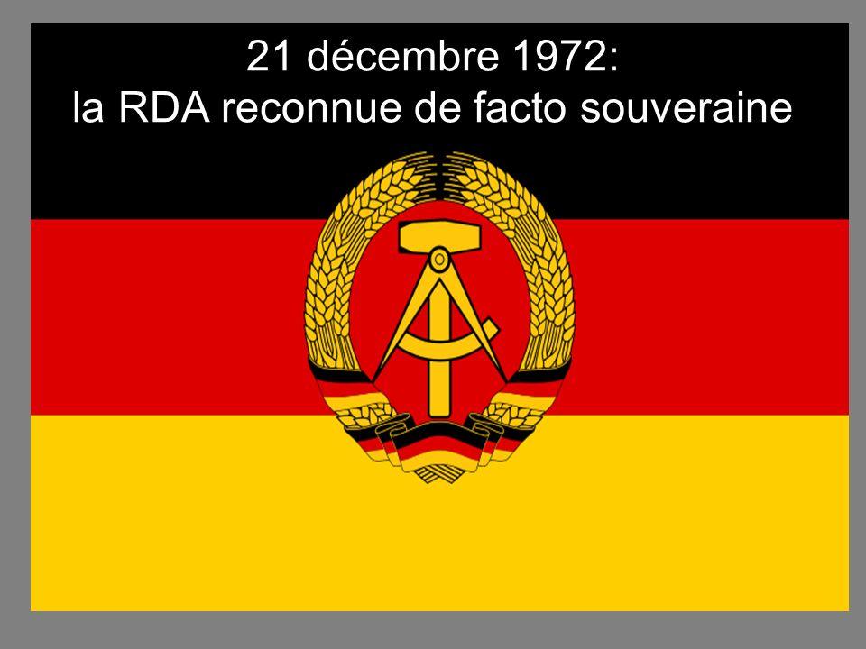 21 décembre 1972: la RDA reconnue de facto souveraine
