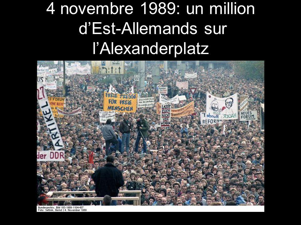 4 novembre 1989: un million d'Est-Allemands sur l'Alexanderplatz