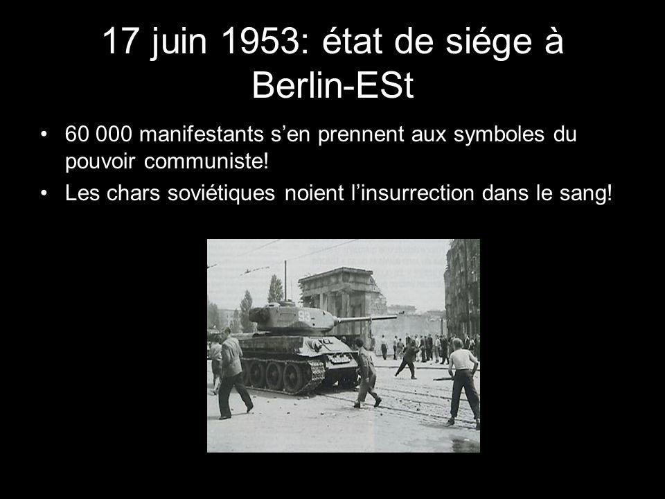 17 juin 1953: état de siége à Berlin-ESt