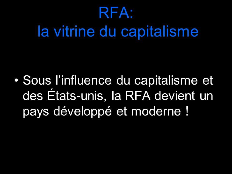 RFA: la vitrine du capitalisme