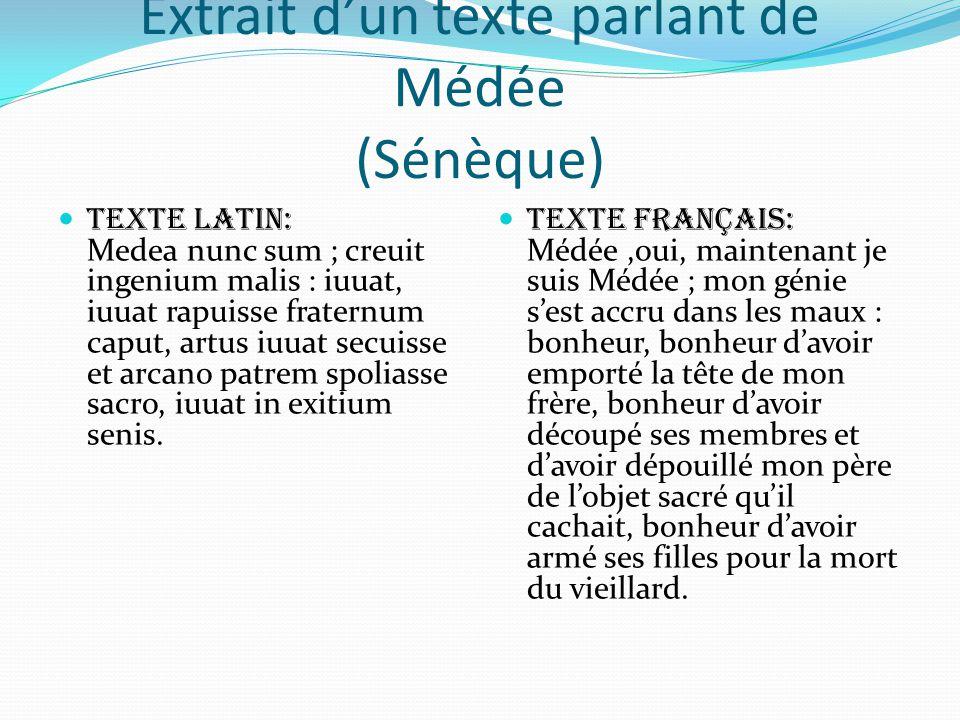 Extrait d'un texte parlant de Médée (Sénèque)