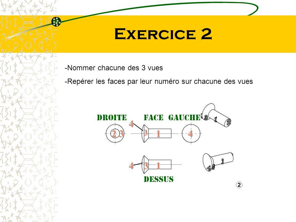 Exercice 2 4 2 3 1 4 4 3 1 Droite Face gauche 3 dessus