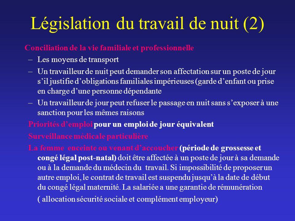 Législation du travail de nuit (2)
