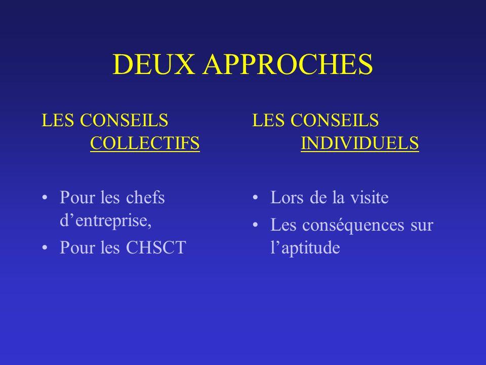 DEUX APPROCHES LES CONSEILS COLLECTIFS Pour les chefs d'entreprise,