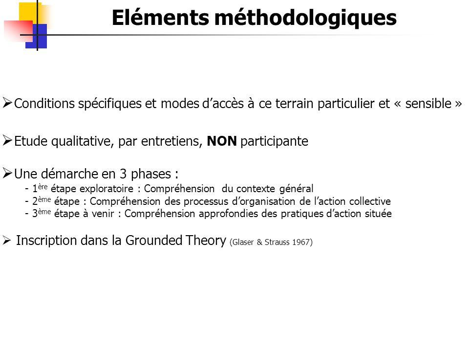 Eléments méthodologiques