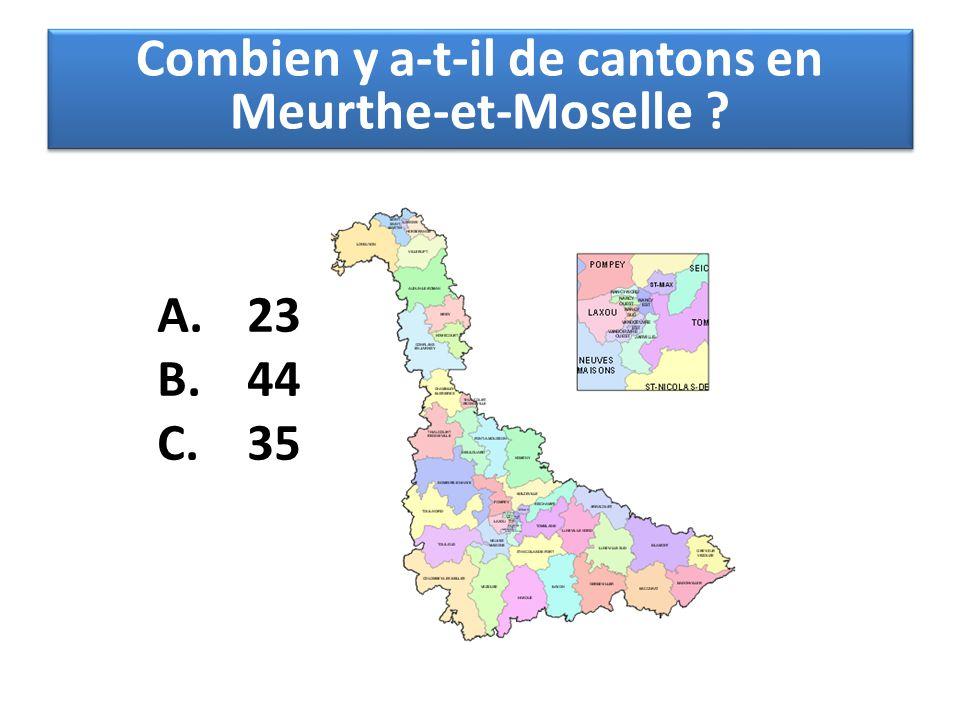 Combien y a-t-il de cantons en Meurthe-et-Moselle