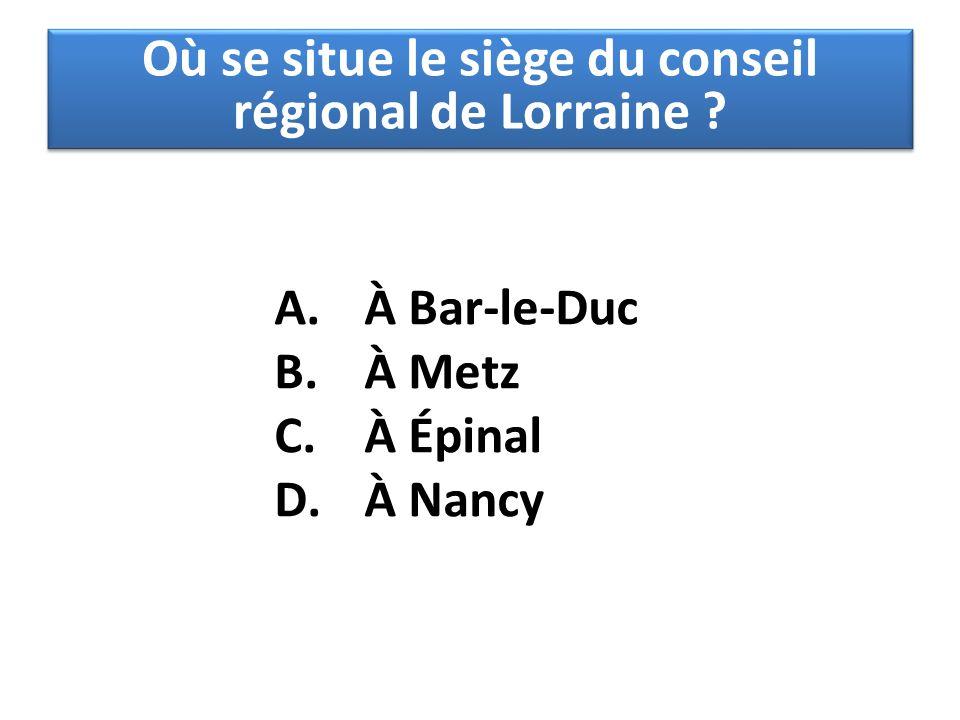 Où se situe le siège du conseil régional de Lorraine