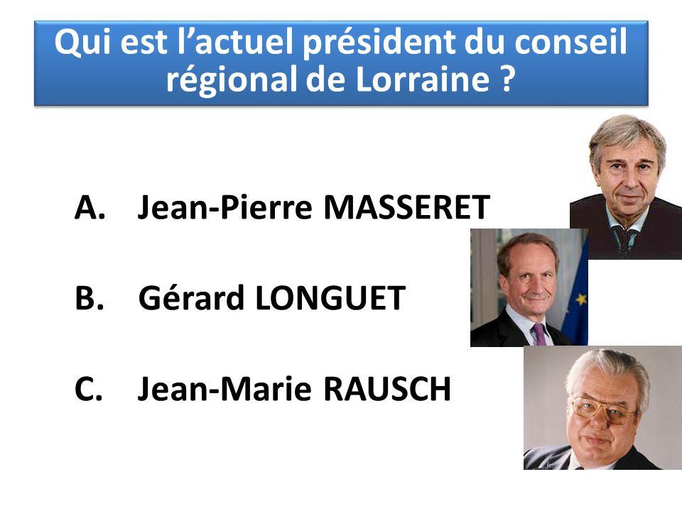 Qui est l'actuel président du conseil régional de Lorraine