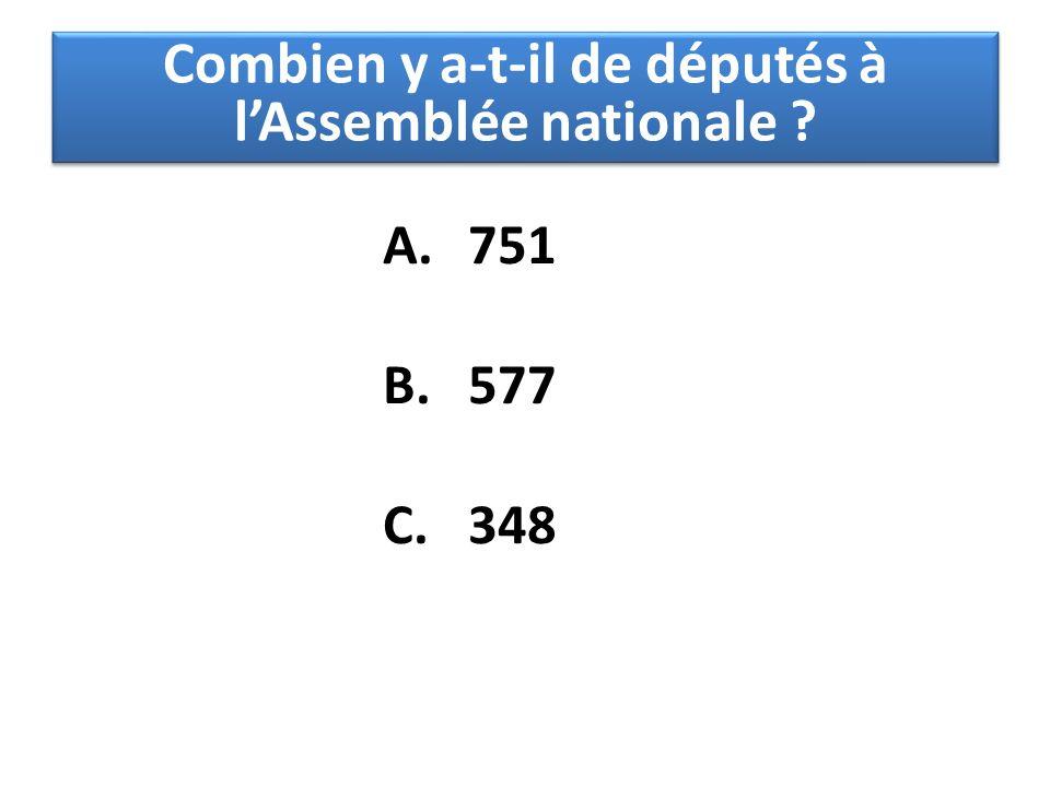 Combien y a-t-il de députés à l'Assemblée nationale
