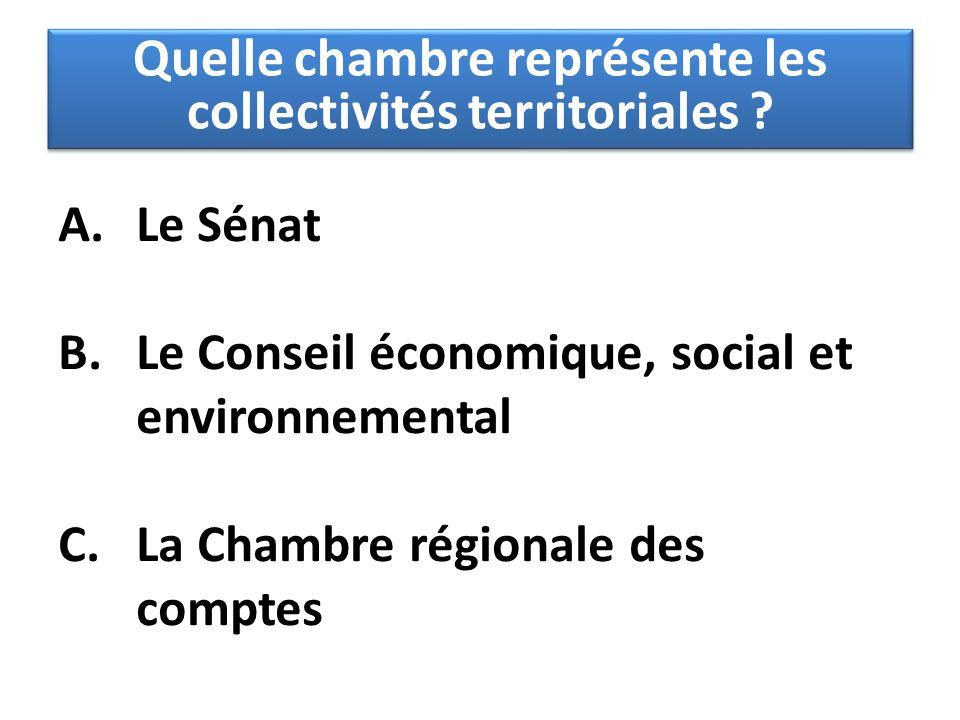 Quelle chambre représente les collectivités territoriales