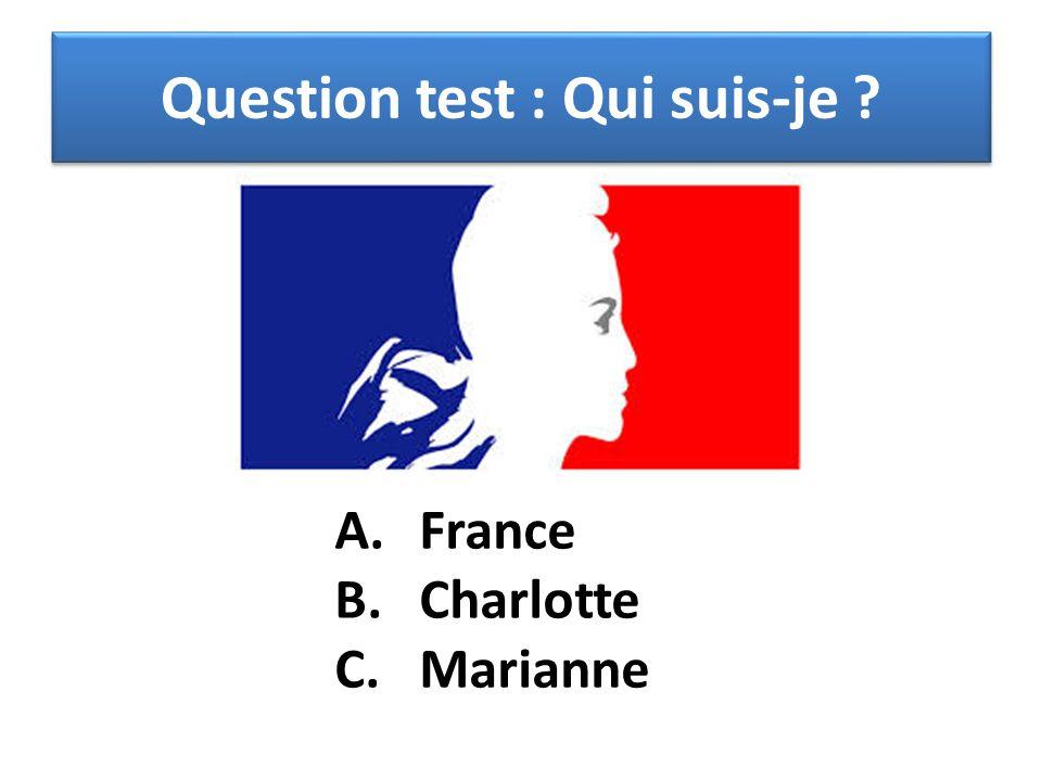 Question test : Qui suis-je