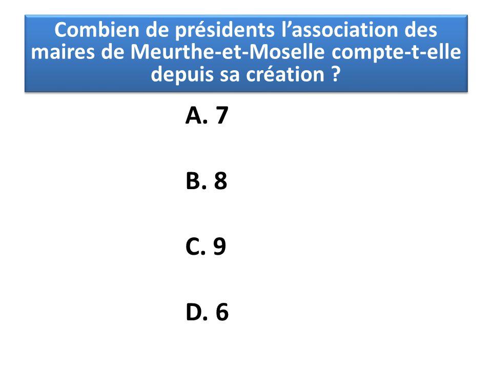 Combien de présidents l'association des maires de Meurthe-et-Moselle compte-t-elle depuis sa création