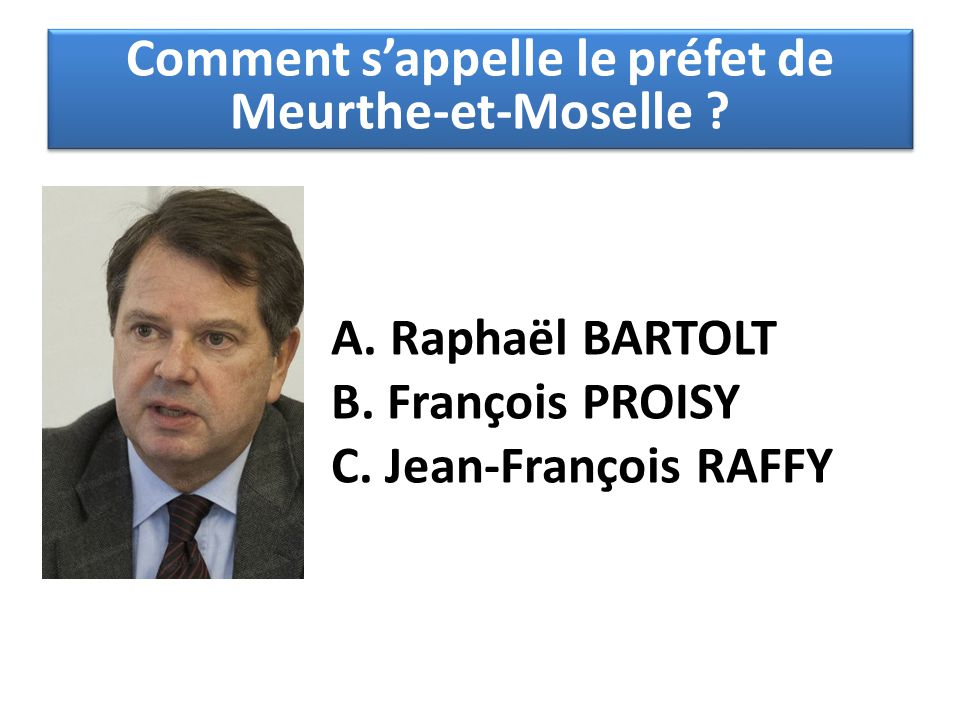 Comment s'appelle le préfet de Meurthe-et-Moselle