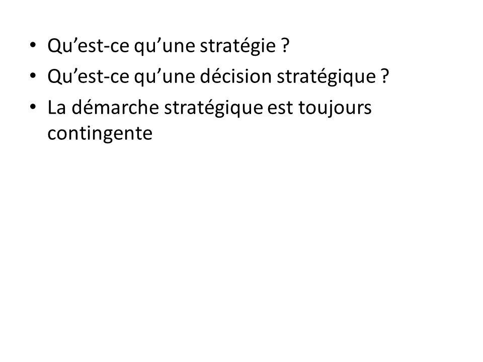 Qu'est-ce qu'une stratégie