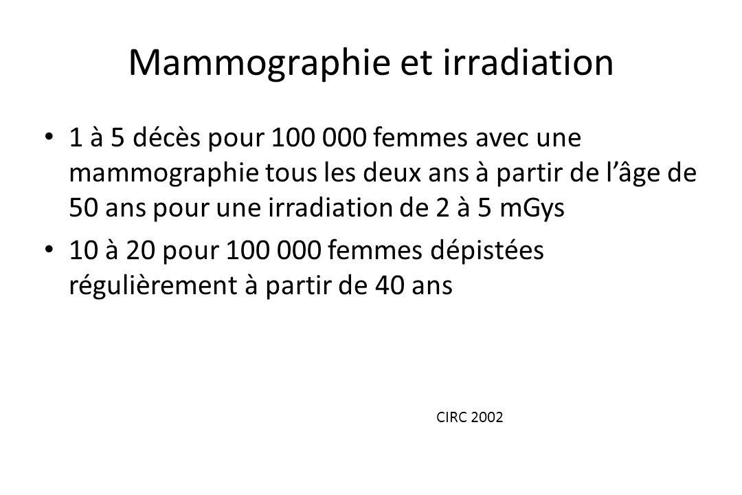 Mammographie et irradiation