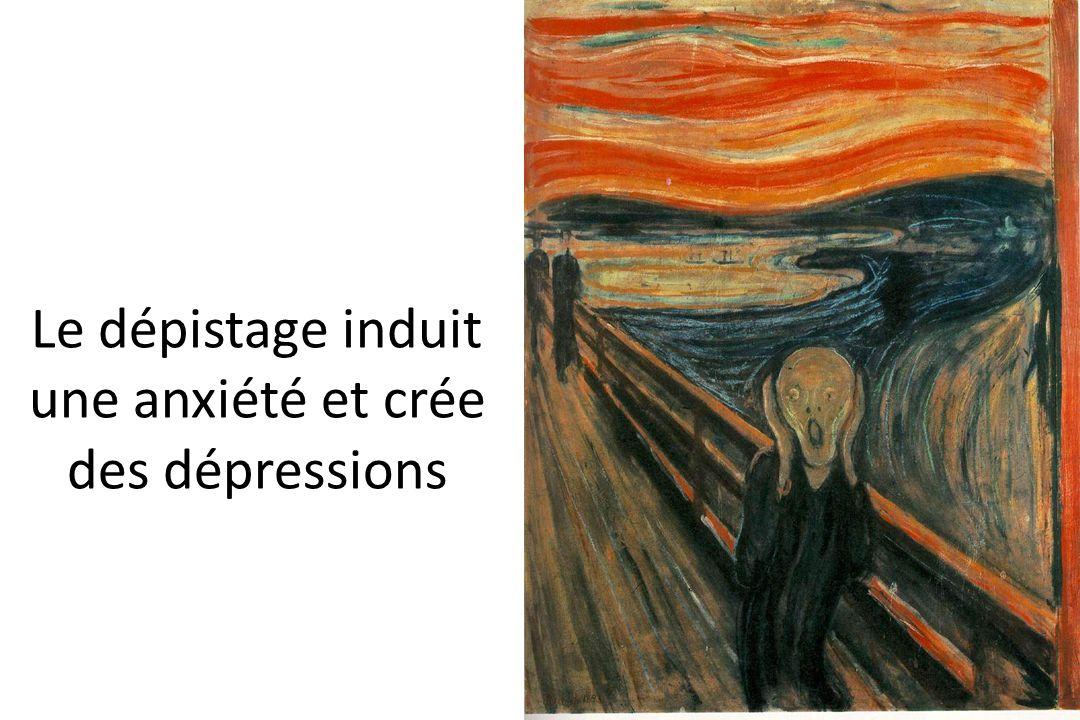 Le dépistage induit une anxiété et crée des dépressions