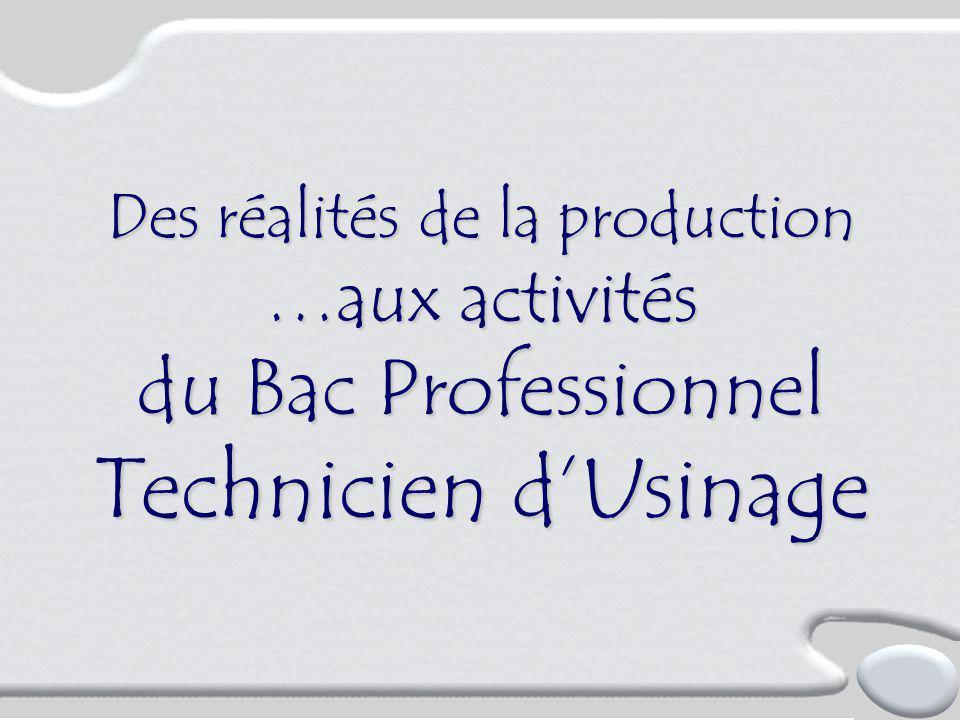 Des réalités de la production